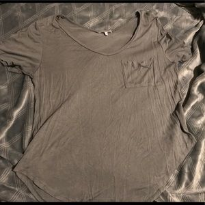 Womens Grey Short Sleeve Top from Charlotte Russe